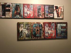 Wall ART - Family, Home, Dream, Love