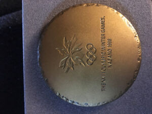 Olympic paperweight from Nagano Olympics 1998