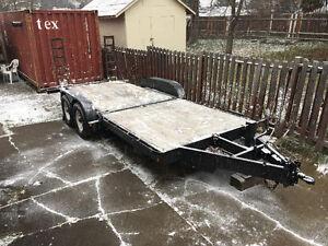 18' Flat deck equipment trailer Prince George British Columbia image 1