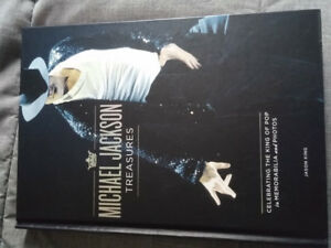 Michael Jackson Treasures book with memorabilia inserts