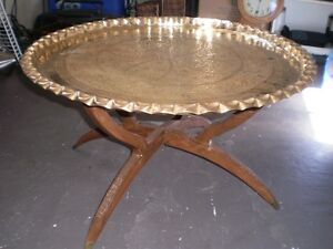 Antique solid brass 30 inch table