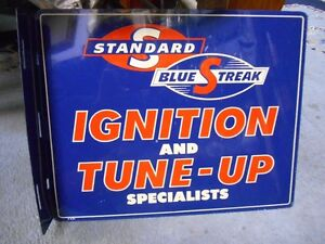 Standard Blue Streak sign