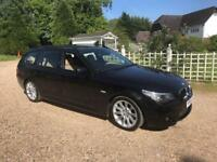 2005 BMW 530d M SPORT Touring Auto Black + Sat Nav Leather New Mot