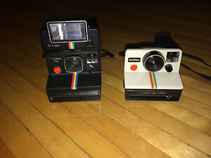 Black & White Polaroid Cameras
