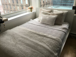 Barely Used Ikea Bed Frame + Storage Unit + Double Mattress