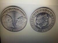 charles darwin 2 pound coin