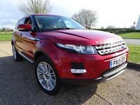 2013 Land Rover Range Rover Evoque SD4 PRESTIGE LUX Diesel red Automatic