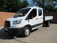 FORD TRANSIT 350 L3 DOUBLE CAB 1 WAY TIPPER LWB 125 BHP 7 SEATS