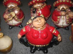 Antique-Mevale Madre-8 piece Mariachi Band-Bright Red-Mexican