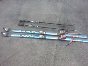 Lance skis and poles