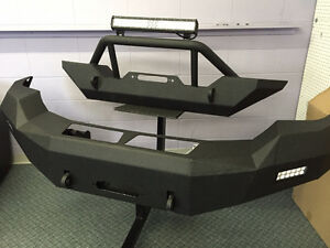 """jeep bumper with 20""""cree led light bar"""