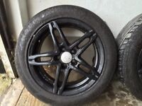 "Wolfrace 16"" alloy wheels& tyres"