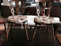 Retro Ercol table with 4 chairs