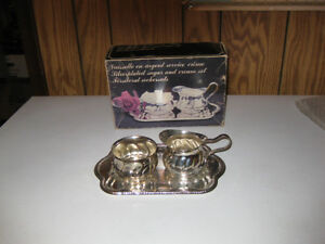 New- 3 pieces Silver plated Sugar and Creamer set.