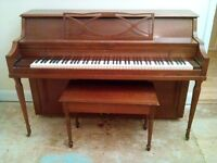 Hallet and Davis Apartment Size Piano - For Sale