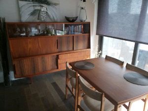 Authentics Teak Dinette set with Buffet Hutch