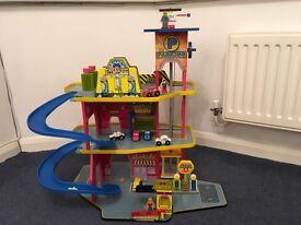 Wooden Toy Garage, Good, Clean Condition