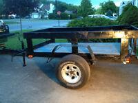 Remorque 4 x 8 trailer metal