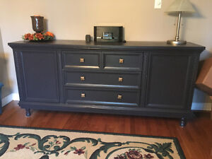 Dining Hutch and Buffet (refinished in modern palette) London Ontario image 1