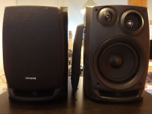 Aiwa SX-NV30 3-Way Black Bookshelf Speakers
