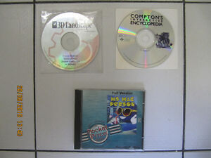 3pc Lot Of Ms Mac Person/3D Landscape/Encylopedia For Macintosh