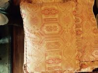 Laura Ashley Tasselled Cushion Tamarind Coral Pattern