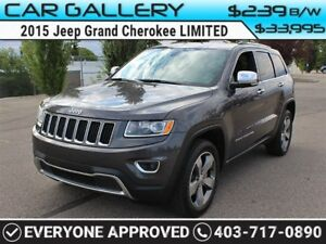 2015 Jeep Grand Cherokee LIMITED w/Sunroof, Leather, BackUp Cam