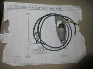 1950-51 FORD COURTESY LIGHT WIRING HARNESS #0A-14328C