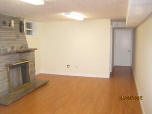 2 bdrm walk out bsmt. for rent. on ground level. At Royal York
