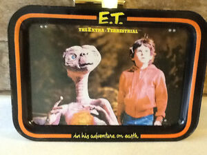 VINTAGE 1982 E.T. METAL SNACK TRAY