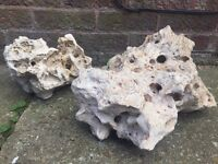Pair of Large Aquarium Rocks