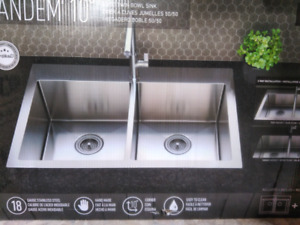 Twin Bowl Stainless Steel Kitchen Sink (Over/Under)