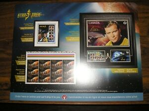 2016 STAR TREK PROMOTIONAL CANADA POST 2-SIDED POSTER