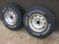 2 VERY AGGRESSIVE 265 75 R16 WILD COUNTRY TIRES. [FIRM]