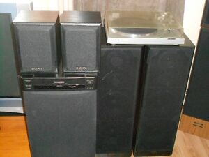 Speakers,Turntable and Subwoofer(Package Deal)   $120.00  OBO