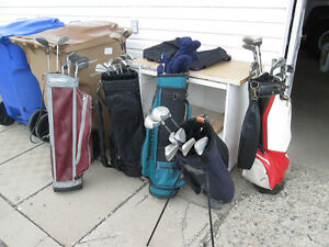 USED GOLF CLUBS AND GOLF CLUB SETS WITH BAGS