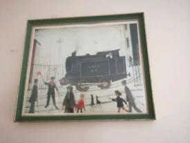 Signed Lowry print.