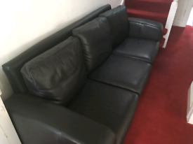 Leather couch for sale. Reduced (again)