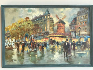 """Original painting """"Moulin Rouge"""" by Don Swift, Canadian artist"""