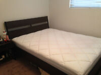 IKEA Queen Size Bed with Side Table for Sale - $475