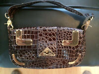 River Island vintage brown crocodile bag