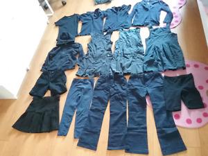 Uniforme sans logo bleu marin et noir fille majorité 6,7,8 ans