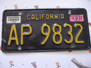 California Licence Plate