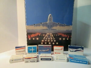Schabak Airplanes 10 Airplanes MINT in boxes plus Display Box