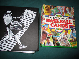 baseball cards and collector book