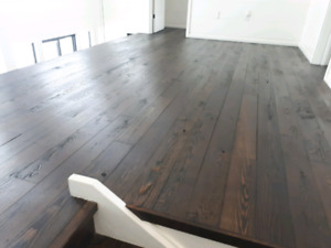 Dust-less floor finishing