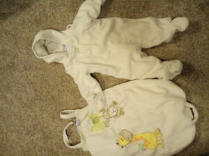 6 month fleece suit with bunting bag
