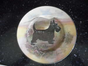 Royal Doulton Scottish Terrier Cabinet Plate D6304