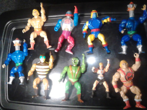 $40 for all 9 Vintage Heman Toys Masters of the Universe Motu