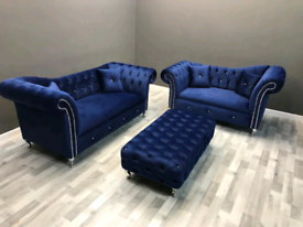 Stella 3+2 Seater Sofa Italian Velvet Different Colors